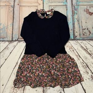 H&M Girls Dress, Navy and Floral, Size 8-10